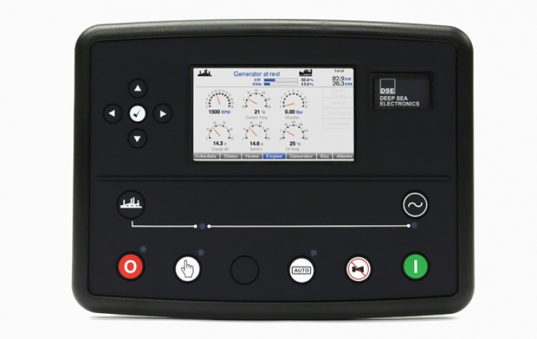 Home control panel deep sea electronics dse8810 load share control