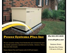 We Have Demand For Used Standby Generators