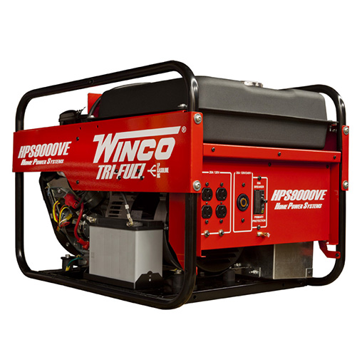 Winco Hps9000ve Home Power Series Portable Generator 9000 Watt Briggs  U0026 Stratton Vanguard