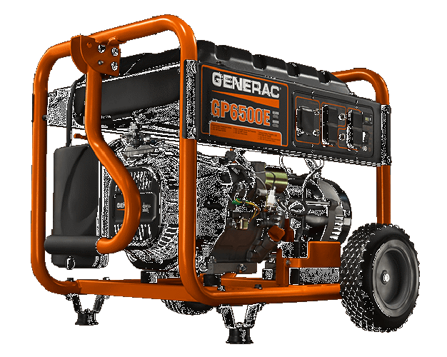 Generac Gp6500e 6500 Watt Portable Generator 49 State With Electric Start Gp Series  5941
