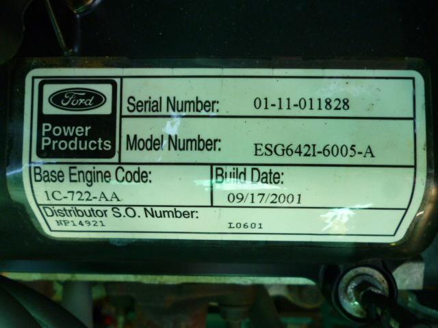 Unit #108 - Cummins 47kW Standby LP Propane Generator Ford V-6 120 ...